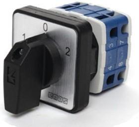PSA016KD234S, Переключатель кулачковый на панель двухполюсный 16А 400VAC тип 1-0-2