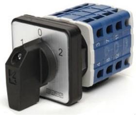 PSA025KD334S, Переключатель кулачковый на панель трехполюсный 25А 400VAC тип 1-0-2