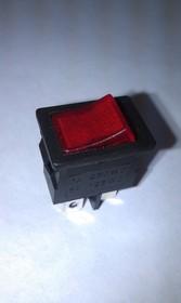 Фото 1/2 MIRS-101 A (красный), Переключатель с подсветкой ON-OFF (6A 125VAC, 3A 250VAC, 15A 12VDC) SPST 3P