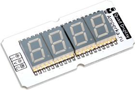 Фото 1/2 Troyka-Quad Display, Четырёхразрядный индикатор для Arduino проектов