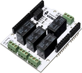 Relay Shield (4 канала по 5А), Релейный модуль на основе 4-х реле G5SB-14 для Arduino проектов