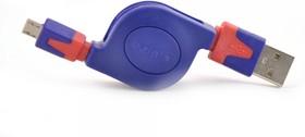 BGL1183, Кабель-рулетка USB 2.0 A вилка - micro B (5 Pins) вилка