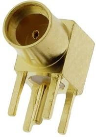 MMCX-PR, Разъем MMCX гнездо на плату, прямой угол, Amphenol, MMCX6252N1-3GT30G-50