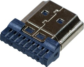 HDMI 19M, вилка на кабель