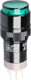 P16LMR1-1ABHG, кнопка без фикс. 240В/4А, LED подсветка 6В