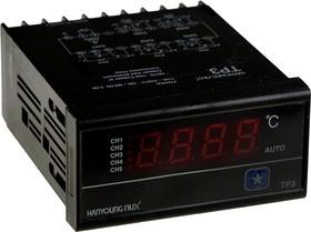 TP3-PP4, пятикан. цифр индикатор темп 96x48мм 5хPt100 220VAC