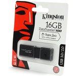 KINGSTON USB 3.0/2.0 16GB DataTraveler 100 G3 черный BL1 ...