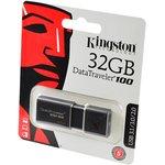 KINGSTON USB 3.1/3.0/2.0 32GB DataTraveler 100 G3 черный ...