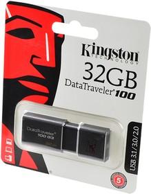 KINGSTON USB 3.1/3.0/2.0 32GB DataTraveler 100 G3 черный BL1, Носитель информации