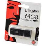 KINGSTON USB 3.1/3.0/2.0 64GB DataTraveler 100 G3 черный ...