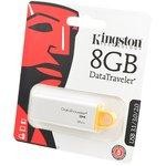 KINGSTON USB 3.1/3.0/2.0 8GB DataTraveler G4 белый с желтым ...