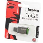 KINGSTON USB 3.1/3.0/2.0 16GB DataTraveler DT50 металл с ...