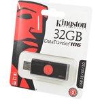 KINGSTON USB 3.1/3.0/2.0 32GB DataTraveler DT106 черный с ...