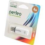 PERFEO PF-C13W004 USB 4GB белый BL1, Носитель информации
