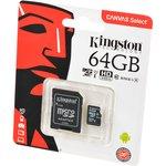 KINGSTON CANVAS Select microSD 64GB (Class 10) UHS-I с ...