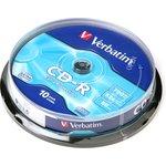 Verbatim 43437 CD-R 80 52x DL CB/10, Записываемый компакт-диск