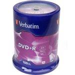 Фото 2/2 Verbatim 43551 DVD+R 4.7 GB 16x CB/100, Записываемый компакт-диск