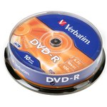 Фото 2/2 Verbatim 43523 DVD-R 4.7 GB 16x CB/10, Записываемый компакт-диск