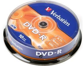 Verbatim 43523 DVD-R 4.7 GB 16x CB/10, Записываемый компакт-диск