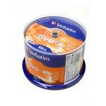 Verbatim 43548 DVD-R 4.7 GB 16x CB/50, Записываемый компакт-диск