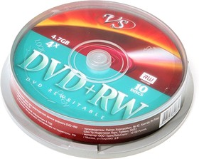 VS DVD+RW 4.7 GB 4x CB/10, Перезаписываемый компакт-диск