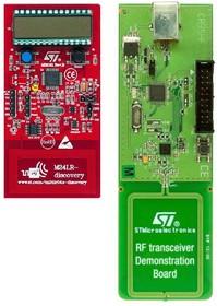 Фото 1/3 M24LR-DISCOVERY, Отладочный набор на основе МК STM8L152C6T6, памяти M24LR04E и платы RF- трансивера