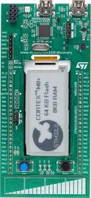 """Фото 1/2 STM32L0538-DISCO, Отладочная плата на базе MCU STM32L053C8T6 (ARM Cortex-M0+), ST-LINK/V2-1, 2.04"""" E-Ink, touch sensor"""