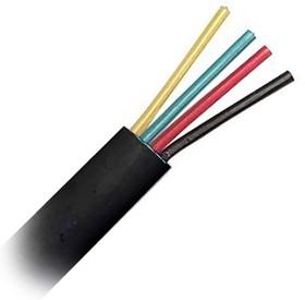 ШТЛП-4 (01-5109), Кабель телефонный 4 жилы черный (0.12мм х7)