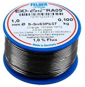 """Pb60Sn40 Тр ISO-Core """"RA-05"""" (1.5мм), Припой олово-свинец с флюсом ROM1, катушка 100гр"""