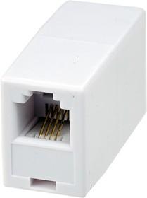 03-0022-01, Телефонный проходник (гнездо-гнездо) 6P-4C (блистер)