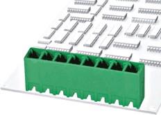 """15EDGVC-3.81-03P-14-00AH, Клеммник 3 конт. """"вилка"""" шаг 3.81 мм закрытый, вертик. на плату, до 300В/8А, зеленый изол."""