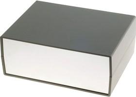 Фото 1/2 G717, Корпус для РЭА 225х165х90мм, пластик, темно-серый, светло-серая панель