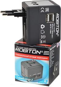 Фото 1/2 ROBITON TravelEnergy 2 с двумя USB-разъемами, Переходник сетевой