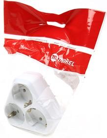 MAKEL MIMOZA на 3 гнезда с/заз 10001204 белый BL1, Разветвитель