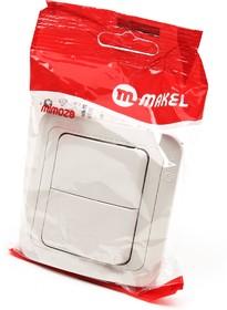 MAKEL MIMOZA 2 кл 25003 кремовый BL1, Выключатель