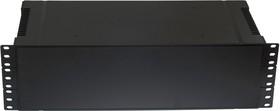 Фото 1/3 G17083UBK, Корпус для РЭА 431х203х129, пластик, черный, с вентиляционными отверстиями