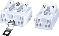 DG238-10.0-03P-19-05AH, Клеммник 3 конт. проходн. электромонт. зажимной (маркир. клавиш L / Земля/ N) шаг 10.0 мм, с фиксат
