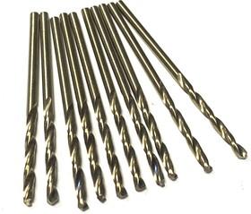 Сверла из кобальтовой быстрорежущей стали M35 2,7 мм 10 шт