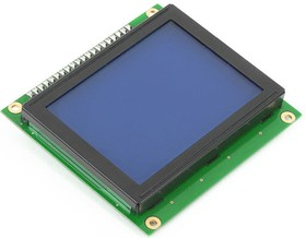 MIKROE-4, Graphic LCD 128x64, Графический ЖКИ с подсветкой для наборов фирмы MIKROELEKTRONIKA формат 128х64 (ME-GLCD 128X64)