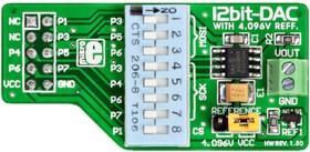 Фото 1/4 MIKROE-80, DAC Board, Дочерняя плата с ЦАП