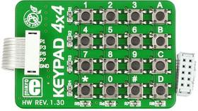Фото 1/4 MIKROE-86, Keypad 4x4 Board, Клавиатура 16 кнопок с кабелем