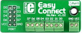 Фото 1/4 MIKROE-194, EasyConnect2 Board, Макетная плата с клеммниками под винт