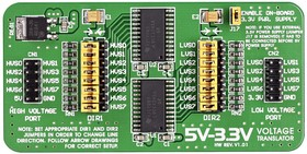 Фото 1/4 MIKROE-259, 5V-3.3V Voltage Translator Board, Плата 8-разрядного преобразователя логических уровней 5 - 3.3 В