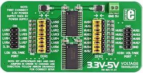 Фото 1/4 MIKROE-258, 3.3V-5V Voltage Translator Board, Плата 8-разрядного преобразователя логических уровней 3.3 - 5 В