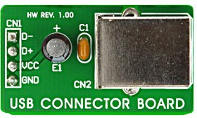 Фото 1/4 MIKROE-269, USB Connector Board, Дочерняя плата с установленным разъемом USB
