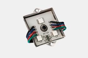 Фото 1/2 SMD-модуль 3 диода 5050 Классик Стандарт RGB управляемый