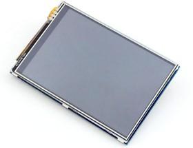 Фото 1/7 3.5inch RPi LCD (A), TFT дисплей 320×480px с резистивной сенсорной панелью для Raspberry Pi