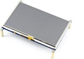 Фото 1/8 5inch HDMI LCD, HDMI дисплей 800×480px с резистивной сенсорной панелью для Raspberry Pi