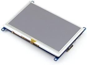 Фото 1/8 5inch HDMI LCD (B), HDMI дисплей 800×480px с резистивной сенсорной панелью для Raspberry Pi