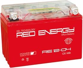 RE12-04, Аккумулятор свинцовый 12B-4Ач 114х70х86 (для мототехники)